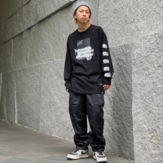 <img class='new_mark_img1' src='https://img.shop-pro.jp/img/new/icons1.gif' style='border:none;display:inline;margin:0px;padding:0px;width:auto;' />【LEFLAH】hand sign pattern easy pants (BLK)