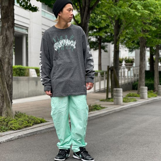 <img class='new_mark_img1' src='https://img.shop-pro.jp/img/new/icons1.gif' style='border:none;display:inline;margin:0px;padding:0px;width:auto;' />【LEFLAH】hand sign pattern easy pants (GRN)