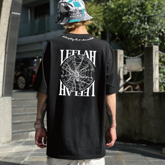 <img class='new_mark_img1' src='https://img.shop-pro.jp/img/new/icons1.gif' style='border:none;display:inline;margin:0px;padding:0px;width:auto;' />【LEFLAH】 spyder tee (BLK)