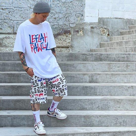 【LEFLAH】6ight 2ack 1gainst pattern short pants(WHT)