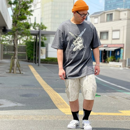 【LEFLAH】hand sign short pants(BEG)