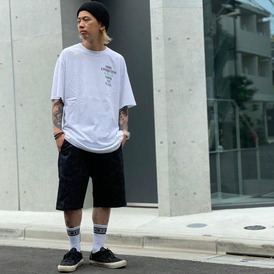 【LEFLAH】hand sign short pants(BLK)