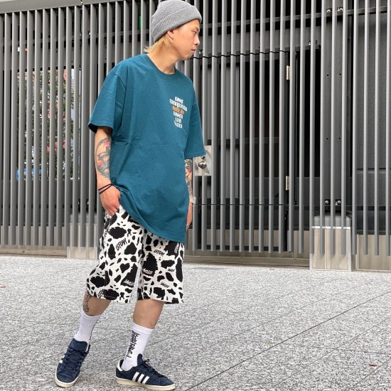 【LEFLAH】cowflage short pants (WHT)