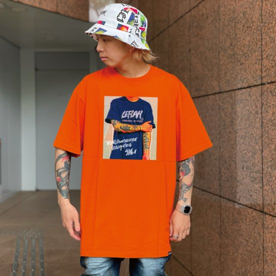 <img class='new_mark_img1' src='https://img.shop-pro.jp/img/new/icons1.gif' style='border:none;display:inline;margin:0px;padding:0px;width:auto;' />【LEFLAH】oneself logo tee (ORG)