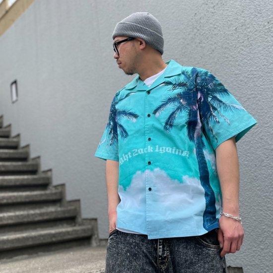 <img class='new_mark_img1' src='https://img.shop-pro.jp/img/new/icons1.gif' style='border:none;display:inline;margin:0px;padding:0px;width:auto;' />【LEFLAH】palm gate aloha shirts (GRN)