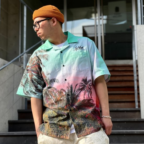 <img class='new_mark_img1' src='https://img.shop-pro.jp/img/new/icons1.gif' style='border:none;display:inline;margin:0px;padding:0px;width:auto;' />【LEFLAH】LF is. msg aloha shirt(GRN)
