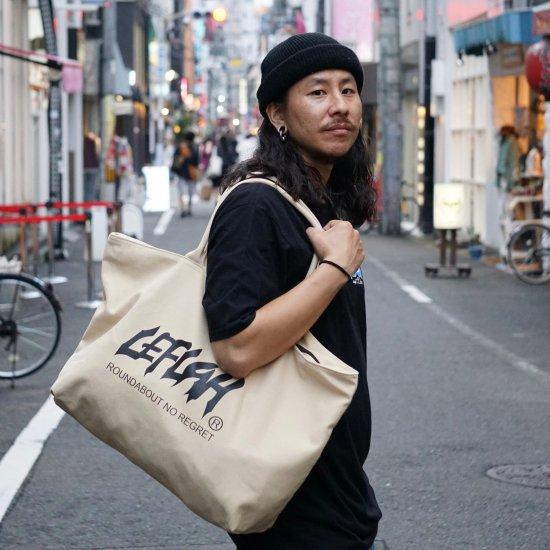 【LEFLAH】main logo canvas zip tote bag (BEG)