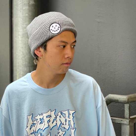 <img class='new_mark_img1' src='https://img.shop-pro.jp/img/new/icons1.gif' style='border:none;display:inline;margin:0px;padding:0px;width:auto;' />【LEFLAH】smirking knit cap(GRY×WHT)