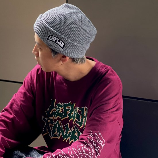 <img class='new_mark_img1' src='https://img.shop-pro.jp/img/new/icons1.gif' style='border:none;display:inline;margin:0px;padding:0px;width:auto;' />【LEFLAH】embroiled arch logo knit cap(GRY×BLK)