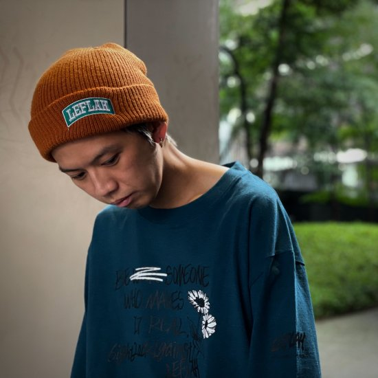 <img class='new_mark_img1' src='https://img.shop-pro.jp/img/new/icons1.gif' style='border:none;display:inline;margin:0px;padding:0px;width:auto;' />【LEFLAH】embroiled arch logo knit cap(BRW)