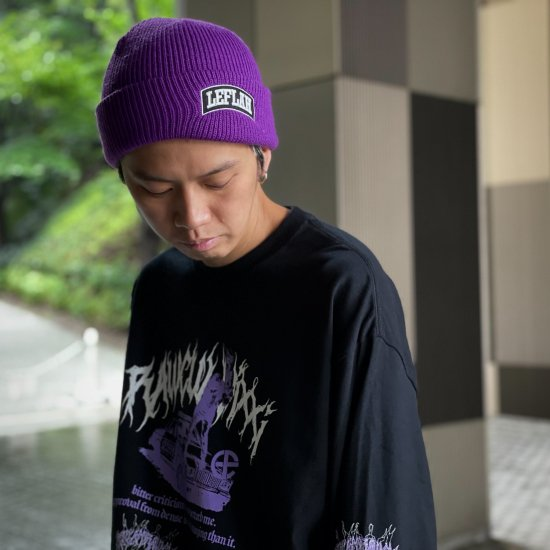 <img class='new_mark_img1' src='https://img.shop-pro.jp/img/new/icons1.gif' style='border:none;display:inline;margin:0px;padding:0px;width:auto;' />【LEFLAH】embroiled arch logo knit cap(PPL)