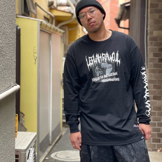 <img class='new_mark_img1' src='https://img.shop-pro.jp/img/new/icons1.gif' style='border:none;display:inline;margin:0px;padding:0px;width:auto;' />【LEFLAH】 media long tee (BLK)