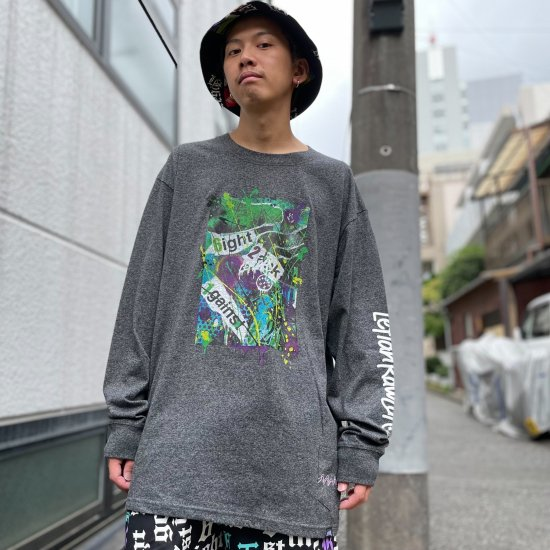 <img class='new_mark_img1' src='https://img.shop-pro.jp/img/new/icons1.gif' style='border:none;display:inline;margin:0px;padding:0px;width:auto;' />【LEFLAH】 collage long tee (GRY)