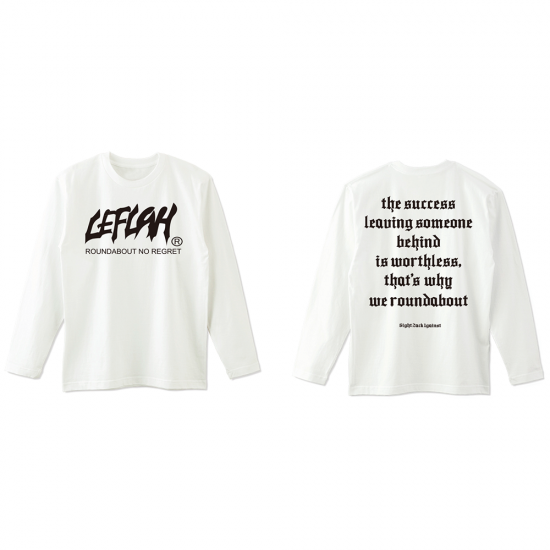 <img class='new_mark_img1' src='https://img.shop-pro.jp/img/new/icons1.gif' style='border:none;display:inline;margin:0px;padding:0px;width:auto;' />【LEFLAH】main logo kids size long tee (WHT) ※キッズサイズ