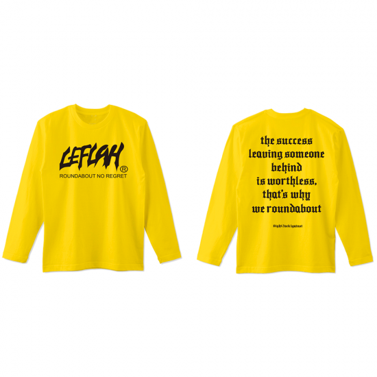 <img class='new_mark_img1' src='https://img.shop-pro.jp/img/new/icons1.gif' style='border:none;display:inline;margin:0px;padding:0px;width:auto;' />【LEFLAH】main logo kids size long tee (YEL) ※キッズサイズ