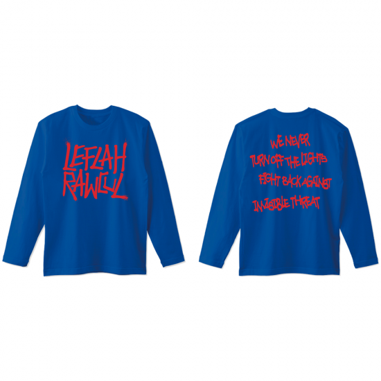 <img class='new_mark_img1' src='https://img.shop-pro.jp/img/new/icons1.gif' style='border:none;display:inline;margin:0px;padding:0px;width:auto;' />【LEFLAH】G-spray logo kids size long tee (BLU) ※キッズサイズ
