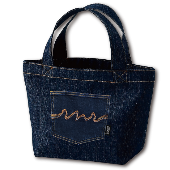 <img class='new_mark_img1' src='https://img.shop-pro.jp/img/new/icons1.gif' style='border:none;display:inline;margin:0px;padding:0px;width:auto;' />【LEFLAH】denim lunch mini tote bag
