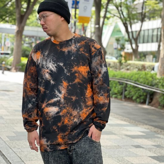 <img class='new_mark_img1' src='https://img.shop-pro.jp/img/new/icons1.gif' style='border:none;display:inline;margin:0px;padding:0px;width:auto;' />【LEFLAH】 hand writing tie-dye long tee(ORG)