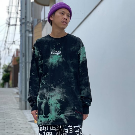 <img class='new_mark_img1' src='https://img.shop-pro.jp/img/new/icons1.gif' style='border:none;display:inline;margin:0px;padding:0px;width:auto;' />【LEFLAH】 621 life tie-dye long tee(GRN)