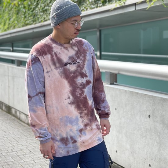 <img class='new_mark_img1' src='https://img.shop-pro.jp/img/new/icons1.gif' style='border:none;display:inline;margin:0px;padding:0px;width:auto;' />【LEFLAH】k love sign tie-dye long tee(BRW)
