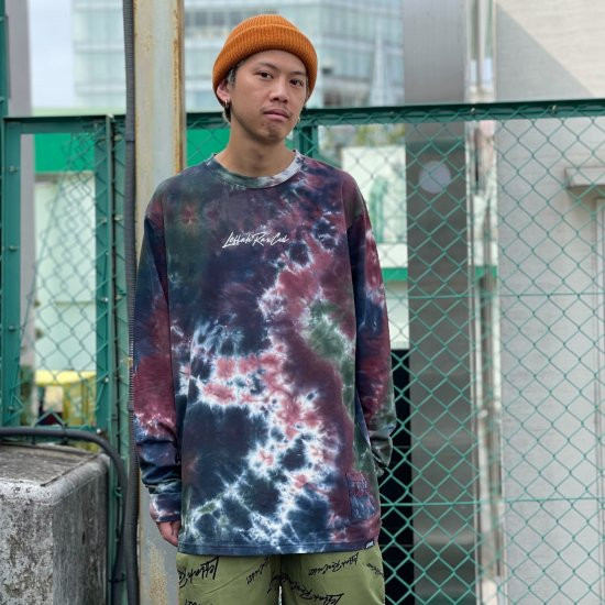 <img class='new_mark_img1' src='https://img.shop-pro.jp/img/new/icons1.gif' style='border:none;display:inline;margin:0px;padding:0px;width:auto;' />【LEFLAH】k love sign tie-dye long tee(BUR)