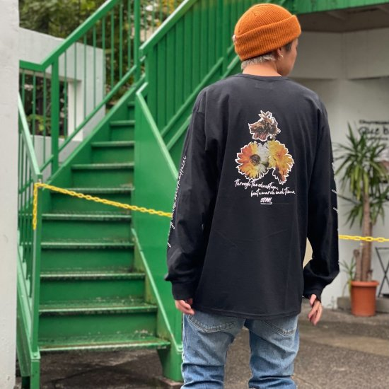 <img class='new_mark_img1' src='https://img.shop-pro.jp/img/new/icons1.gif' style='border:none;display:inline;margin:0px;padding:0px;width:auto;' />【LEFLAH】 beat a march pocket long tee (BLK)