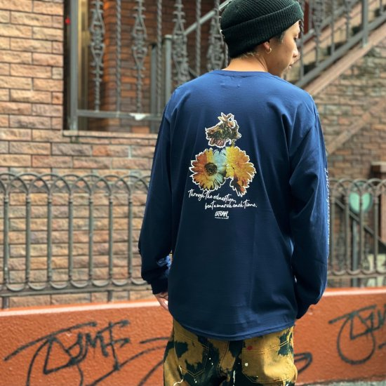 <img class='new_mark_img1' src='https://img.shop-pro.jp/img/new/icons1.gif' style='border:none;display:inline;margin:0px;padding:0px;width:auto;' />【LEFLAH】 beat a march pocket long tee (NVY)