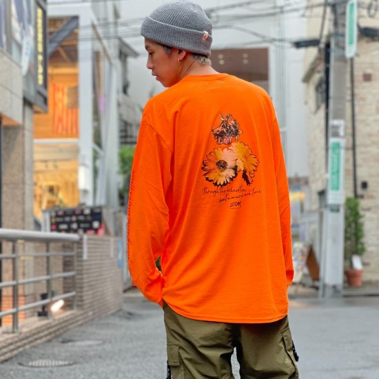 <img class='new_mark_img1' src='https://img.shop-pro.jp/img/new/icons1.gif' style='border:none;display:inline;margin:0px;padding:0px;width:auto;' />【LEFLAH】 beat a march pocket long tee (ORG)