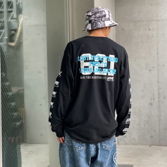 <img class='new_mark_img1' src='https://img.shop-pro.jp/img/new/icons1.gif' style='border:none;display:inline;margin:0px;padding:0px;width:auto;' />【LEFLAH】 621 logo pocket long tee (BLK)