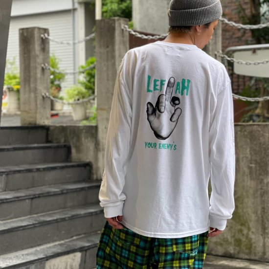 <img class='new_mark_img1' src='https://img.shop-pro.jp/img/new/icons1.gif' style='border:none;display:inline;margin:0px;padding:0px;width:auto;' />【LEFLAH】enemy pocket long tee (WHT)