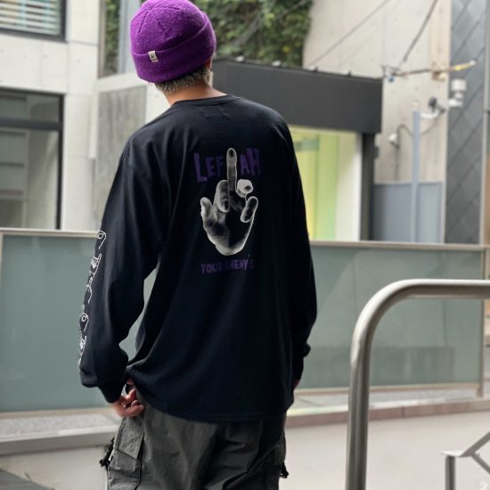 <img class='new_mark_img1' src='https://img.shop-pro.jp/img/new/icons1.gif' style='border:none;display:inline;margin:0px;padding:0px;width:auto;' />【LEFLAH】enemy pocket long tee (BLK)