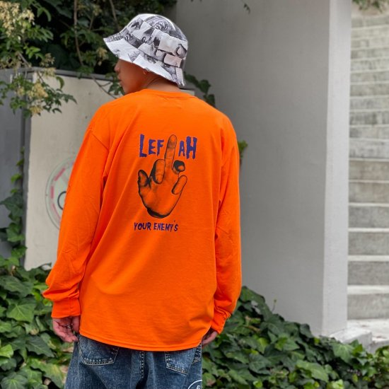<img class='new_mark_img1' src='https://img.shop-pro.jp/img/new/icons1.gif' style='border:none;display:inline;margin:0px;padding:0px;width:auto;' />【LEFLAH】enemy pocket long tee (ORG)