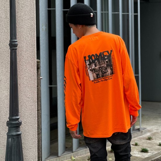 <img class='new_mark_img1' src='https://img.shop-pro.jp/img/new/icons1.gif' style='border:none;display:inline;margin:0px;padding:0px;width:auto;' />【LEFLAH】 HOMEY pocket long tee (ORG)