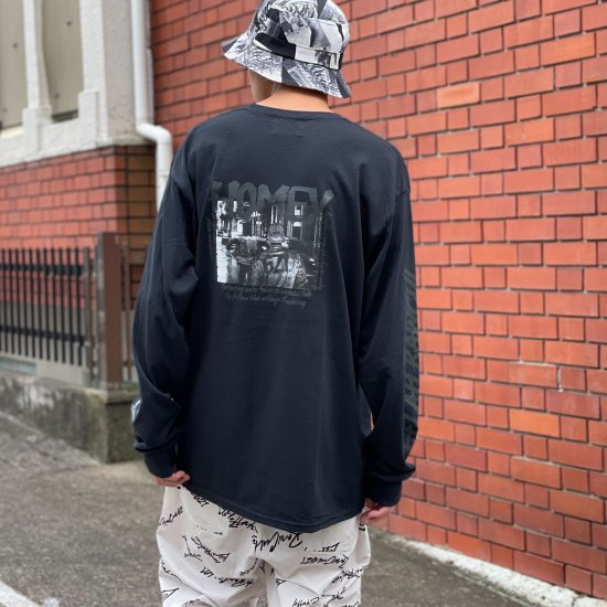 <img class='new_mark_img1' src='https://img.shop-pro.jp/img/new/icons1.gif' style='border:none;display:inline;margin:0px;padding:0px;width:auto;' />【LEFLAH】 HOMEY pocket long tee (BLK)
