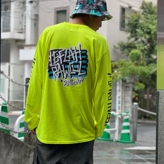 <img class='new_mark_img1' src='https://img.shop-pro.jp/img/new/icons1.gif' style='border:none;display:inline;margin:0px;padding:0px;width:auto;' />【LEFLAH】 flag logo pocket long tee (S.GRN)