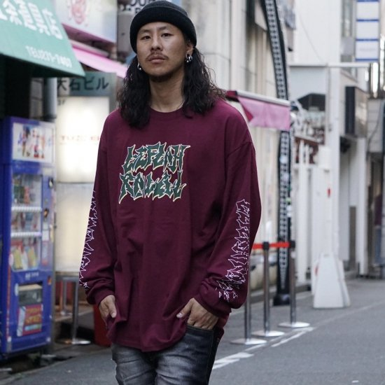 <img class='new_mark_img1' src='https://img.shop-pro.jp/img/new/icons1.gif' style='border:none;display:inline;margin:0px;padding:0px;width:auto;' />【LEFLAH】jagged logo long tee (MAR)