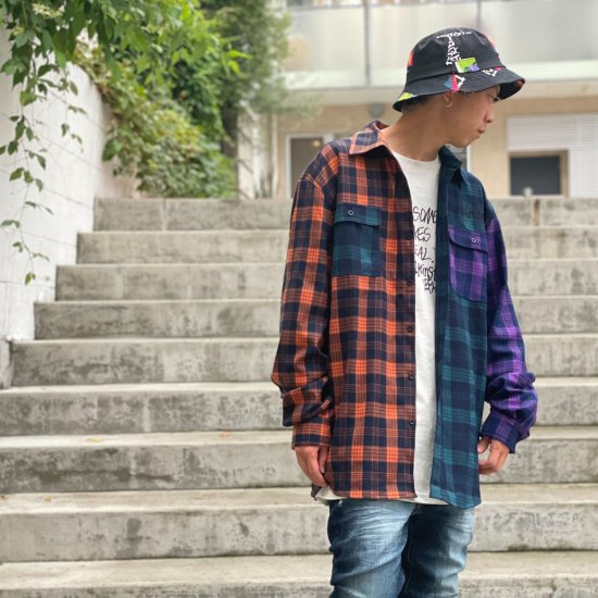 <img class='new_mark_img1' src='https://img.shop-pro.jp/img/new/icons1.gif' style='border:none;display:inline;margin:0px;padding:0px;width:auto;' />【LEFLAH】multicolor checked shirt (ORG)