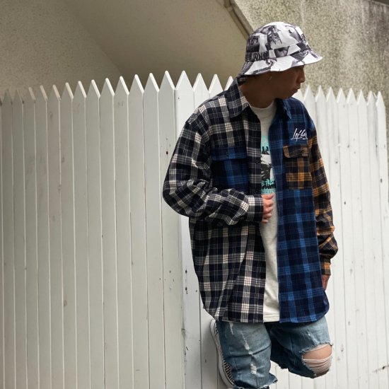 <img class='new_mark_img1' src='https://img.shop-pro.jp/img/new/icons1.gif' style='border:none;display:inline;margin:0px;padding:0px;width:auto;' />【LEFLAH】multicolor checked shirt (WHT)