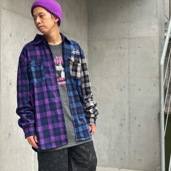 <img class='new_mark_img1' src='https://img.shop-pro.jp/img/new/icons1.gif' style='border:none;display:inline;margin:0px;padding:0px;width:auto;' />【LEFLAH】multicolor checked shirt (PPL)