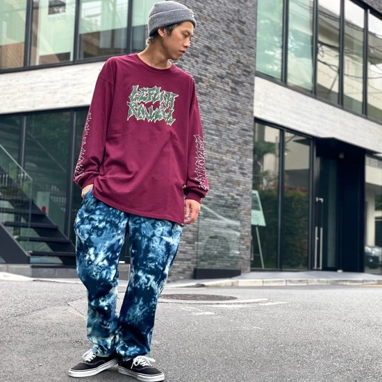 <img class='new_mark_img1' src='https://img.shop-pro.jp/img/new/icons1.gif' style='border:none;display:inline;margin:0px;padding:0px;width:auto;' />【LEFLAH】bleach denim easy pants(NVY)