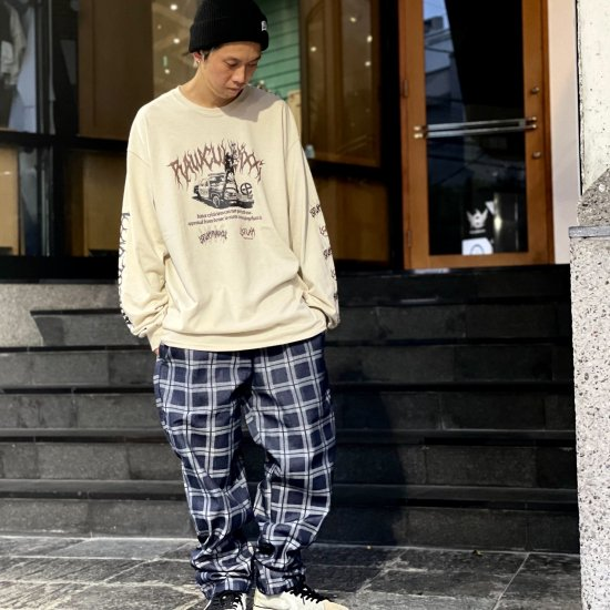<img class='new_mark_img1' src='https://img.shop-pro.jp/img/new/icons1.gif' style='border:none;display:inline;margin:0px;padding:0px;width:auto;' />【LEFLAH】check denim easy pants(NVY)