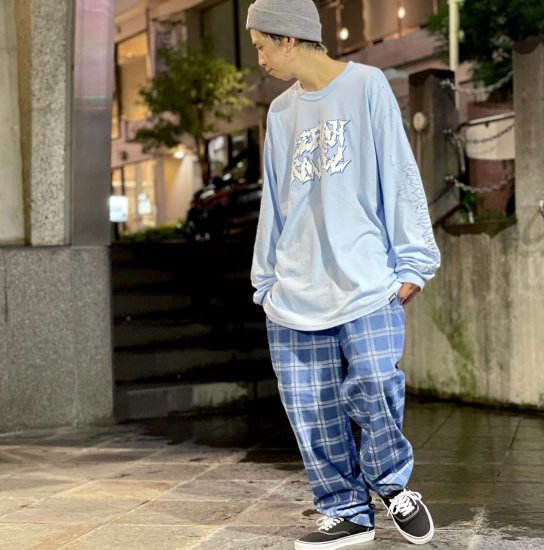 <img class='new_mark_img1' src='https://img.shop-pro.jp/img/new/icons2.gif' style='border:none;display:inline;margin:0px;padding:0px;width:auto;' />【LEFLAH】check denim easy pants(BLU)