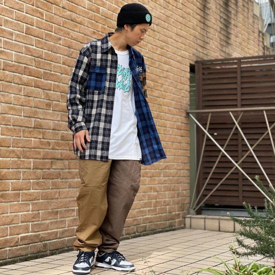<img class='new_mark_img1' src='https://img.shop-pro.jp/img/new/icons2.gif' style='border:none;display:inline;margin:0px;padding:0px;width:auto;' />【LEFLAH】bi-color twill easy pants(BRW×KHA)