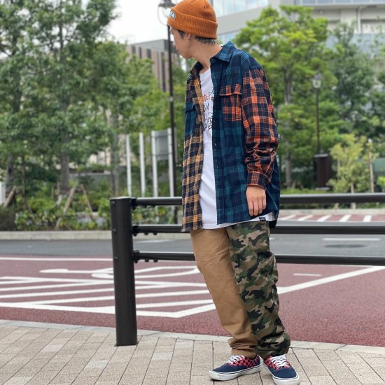 <img class='new_mark_img1' src='https://img.shop-pro.jp/img/new/icons2.gif' style='border:none;display:inline;margin:0px;padding:0px;width:auto;' />【LEFLAH】camouflage × twill easy pants(BEG×CAMO)