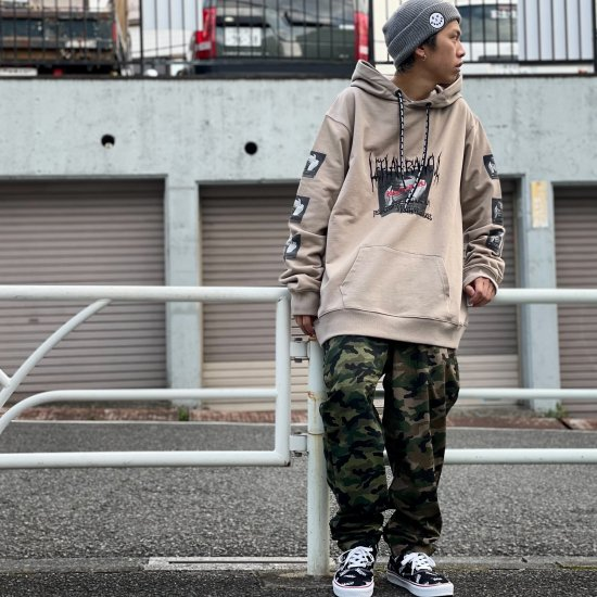 <img class='new_mark_img1' src='https://img.shop-pro.jp/img/new/icons2.gif' style='border:none;display:inline;margin:0px;padding:0px;width:auto;' />【LEFLAH】bi-color camouflage easy pants(BRW×GRN)