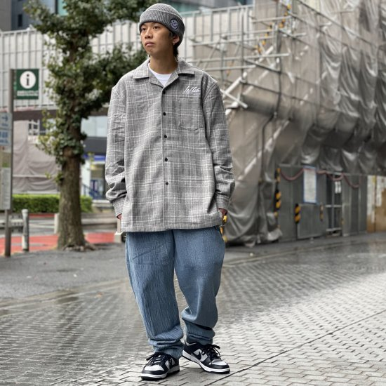 <img class='new_mark_img1' src='https://img.shop-pro.jp/img/new/icons1.gif' style='border:none;display:inline;margin:0px;padding:0px;width:auto;' />【LEFLAH】chemical denim easy pants(BLU)