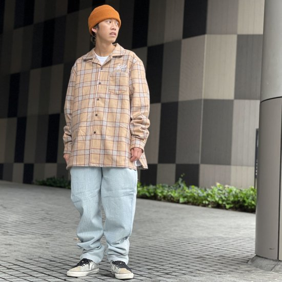 <img class='new_mark_img1' src='https://img.shop-pro.jp/img/new/icons1.gif' style='border:none;display:inline;margin:0px;padding:0px;width:auto;' />【LEFLAH】chemical denim easy pants(L.BLU)