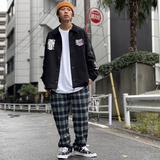 <img class='new_mark_img1' src='https://img.shop-pro.jp/img/new/icons1.gif' style='border:none;display:inline;margin:0px;padding:0px;width:auto;' />【LEFLAH】3col. wool check easy pants(NVY)