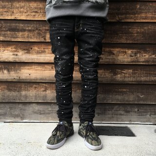 Drip Stretch denim pants(PINLINE-BLK)