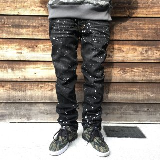 Drip Stretch denim pants(AKTIVE-BLK)